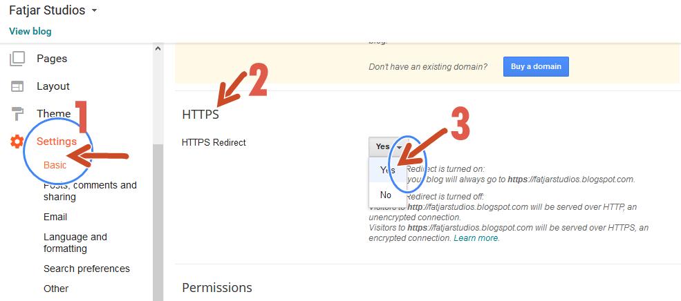 Google Blogger - Blogspot enable free https