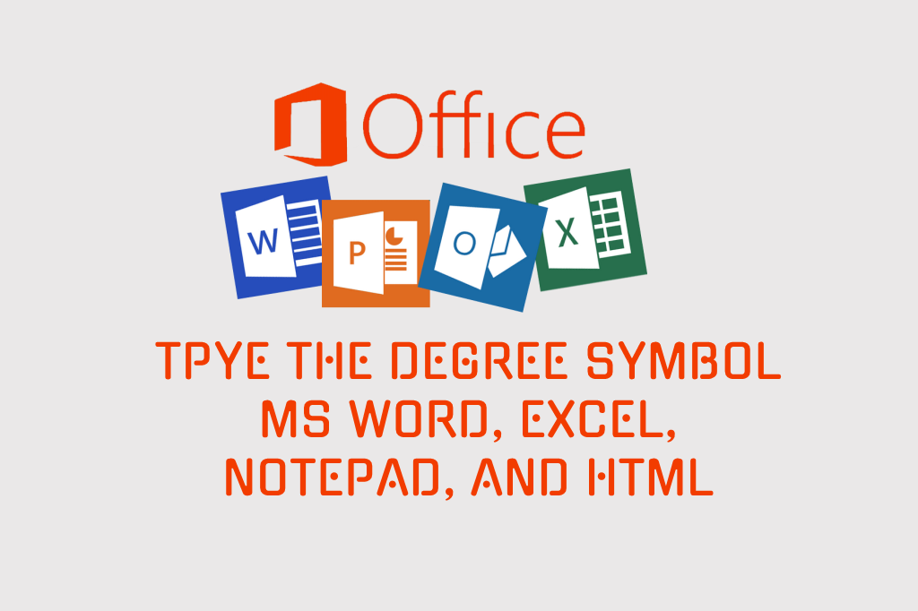 How to type the degree symbol in word