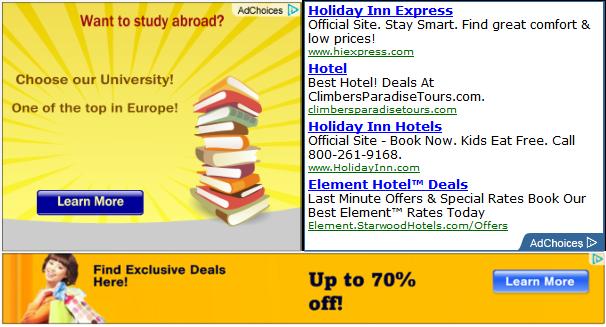 Sample AdSense ads