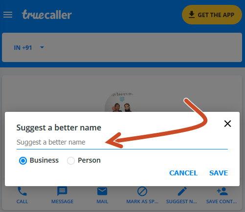 Truecaller suggest a better name